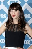 LOS ANGELES - JAN 13:  Zooey Deschanel at the FOX TCA Winter 2014 Party at Langham Huntington Hotel
