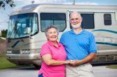 Seniors And Luxury Motor Home