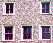 Wall And Windows: Pink, Purple And Flowers!