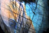stock photo of labradorite  - labradorite natural golden and blue mineral background - JPG