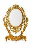 Golden antique mirror