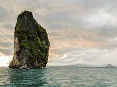 Limestone Rock In The Andaman Sea. Landscape Shot