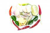 Tom Yum Ingredients Thai Food