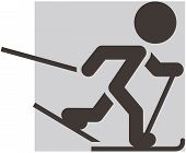 stock photo of nordic skiing  - The winter sport icons  - JPG