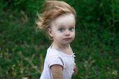 Portrait Tousled Little Girl
