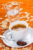Espresso caffee, almond flavor