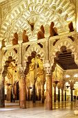 CORDOBA, SPAIN - MARCH 12, 2013: Interior of The Great Mosque of Cordoba (La Mezquita) -  masterpiec