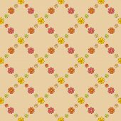 Warm Flower Net Pattern