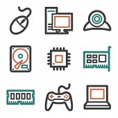 Computer web icons, contour series