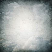 Neat Grunge Premade Background With Clouds