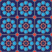 Vector Illustration Of A Seamless Turkish Tile