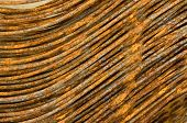 stock photo of ferrous metal  - Background of ferrous recycling scrap metal rods - JPG