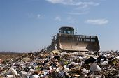 stock photo of landfill  - Working on a landfill plan in the US - JPG