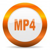 mp4 computer icon on white background