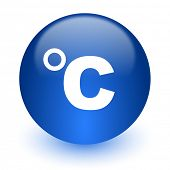 celsius computer icon on white background