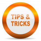 tips tricks computer icon on white background