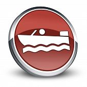 Icon, Button, Pictogram Motorboat