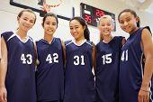picture of 13 year old  - Members Of Female High School Basketball Team - JPG