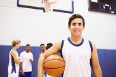 picture of 16 year old  - Portrait Of High School Basketball Player - JPG