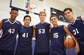 picture of 16 year old  - Members Of Male High School Basketball Team - JPG