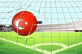 Illustration of a soccer ball with the flag of Turkey