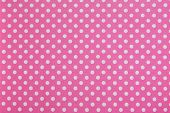 while dots on pink background
