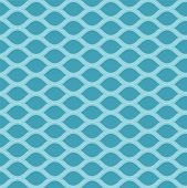 Blue wavy seamless pattern background