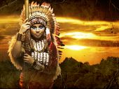 a warrior Native American woman