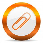 paperclip computer icon on white background