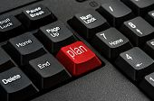 Keyboard - Red key Plan business Concepts And Ideas