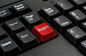 Keyboard - Red key Learn business Concepts And Ideas