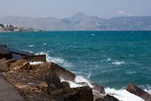 The Sea On The Island Of Crete