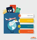 International passport and elements of travel. Business working elements for web design, seo optimiz