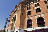 image of neo  - The Bullring Arenas on Spain Square Barcelona traditional architectural style neo - JPG