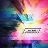 Colorful Triangles Abstract Background vector