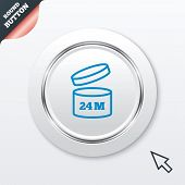 After opening use 24 months sign icon.