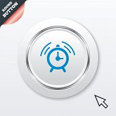 Alarm clock sign icon. Wake up alarm symbol.