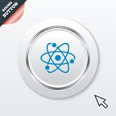 Atom sign icon. Atom part symbol.
