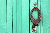 Knocker Lanzarote Abstract Door Wood In The Green