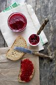 Raspberry Jam On The Table