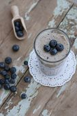 Delicious Blueberry And Banana Smoothie For Breakfast
