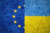 European Union And Ukraine Flags
