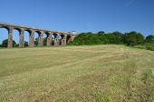 Railway viaduct in England.
