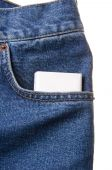 Cigarette Box In Pocket Of Blue Jeans