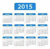 English Calendar 2015 Blue