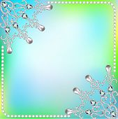 Background  Frame With Ornaments Made Of Precious Stones And Pearls