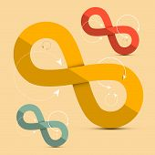 Paper Infinity Symbols Set - Vector Illustration