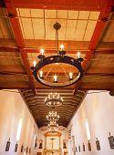 Mission San Luis Obispo De Tolosa California Basilica Cross Altar Wooden Ceiling