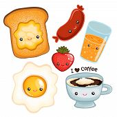 picture of kawaii  - cute breakfast food  - JPG
