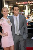 LOS ANGELES - JUN 17:  Anna Camp, Skylar Austin at the HBO's
